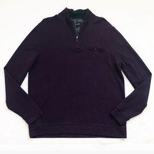 Ted Baker Funnel Neck Purple Half Zip Sweater
